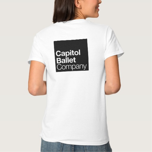 Capitol Ballet Company White T-Shirt Back
