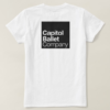 Capitol Ballet Company White T-Shirt Back Flat