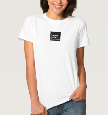 Capitol Ballet Company White T-Shirt Front