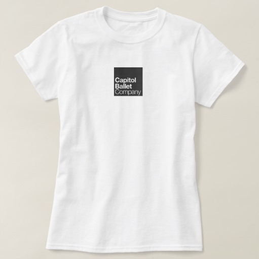 Capitol Ballet Company White T-Shirt Front Flat